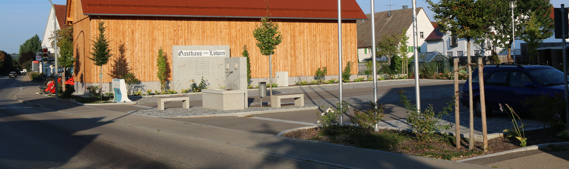Header Unterroth - Dorfplatz